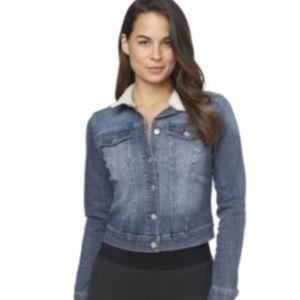 Jessica Simpson Pixie Sherpa Denim Jacket XS